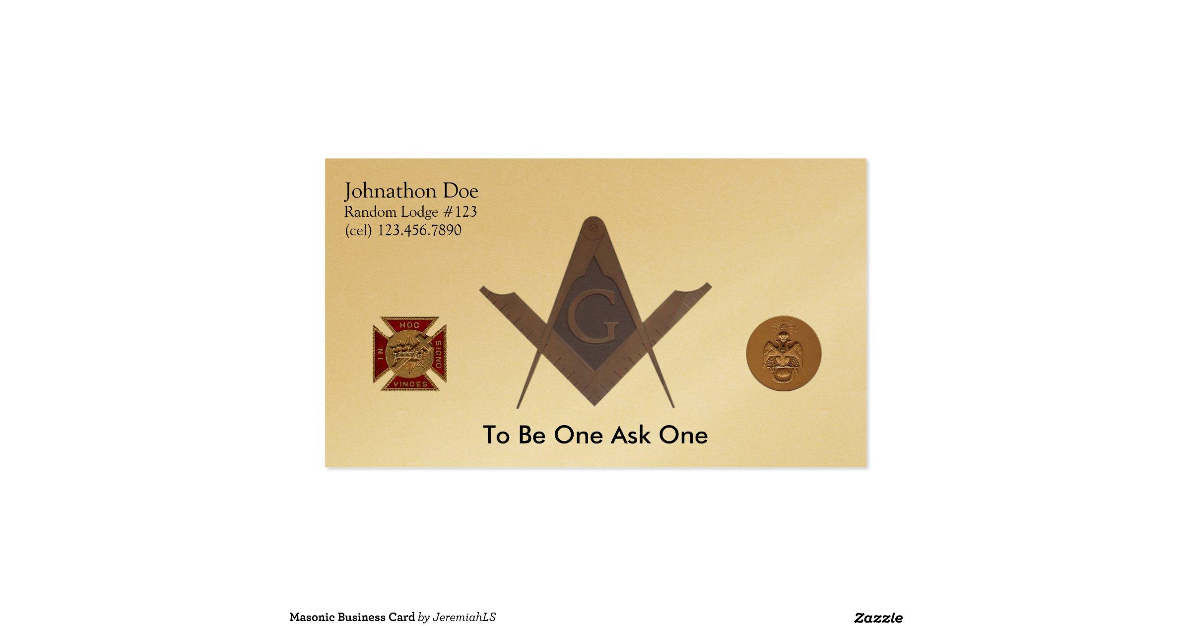 Masonic business card rbb872b359bd0431ab1ab43133c1407a9 for Freemason business cards