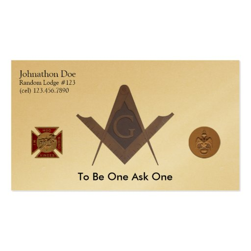 Masonic business card zazzle for Freemason business cards