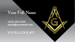 Freemason business cards zazzle masonic business card designs black gold silver colourmoves