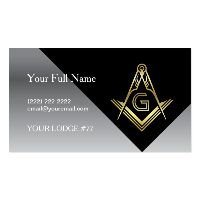 Masonic business card designs black gold silver zazzle for Freemason business cards