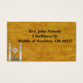 Masonic Business Cards