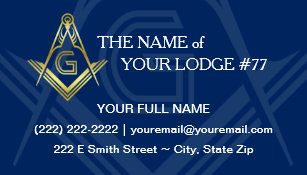 Masonic business cards zazzle masonic business cards navy blue gold freemason colourmoves