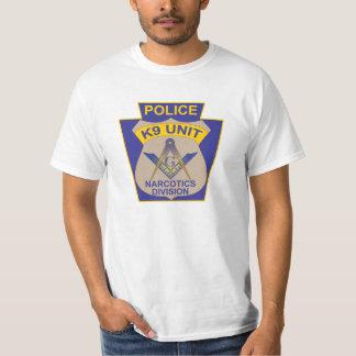 MASONIC CANINE CORPS POLICE BADGE T-Shirt