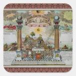 Masonic Chart 2 Square Sticker