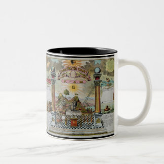 Masonic Chart 2 Two-Tone Coffee Mug