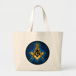 Masonic Compass and Square Tote Bag
