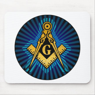 Masonic Compass and Square Mousepads