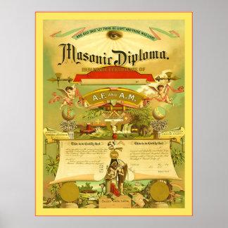 Masonic Diploma (1891) Poster