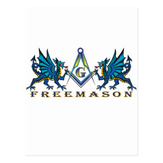 Masonic dragons postcard