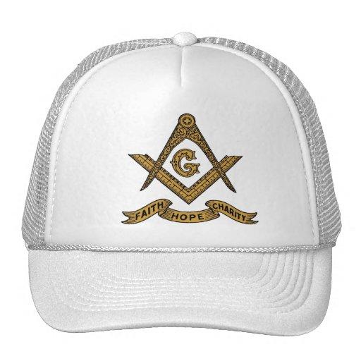 Masonic emblem cap trucker hat