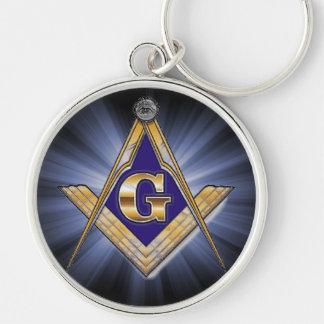 Masonic Emblem Square and Compass Keychain