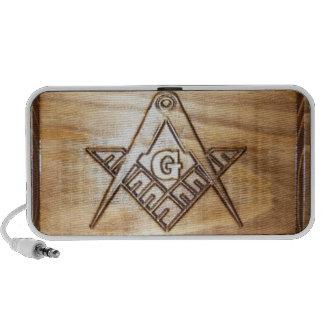 Masonic Emblem wood design mini speaker