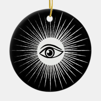 Masonic eye ceramic ornament
