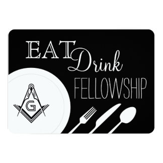 Masonic Fellowship Dinner Invitation - Freemasonry