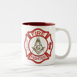 MASONIC FIRE-FIGHTERS COFFEE MUG