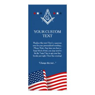 Masonic Flag Ceremony Card, American Freemason Rack Card