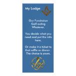 Masonic Fundraiser Full Color Rack Card
