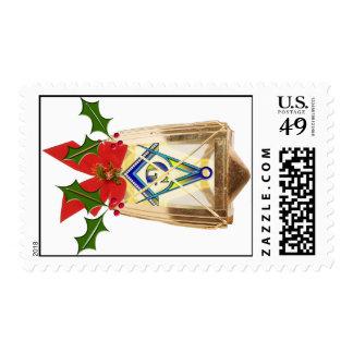 Masonic Holiday Lantern Stamps