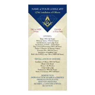 Masonic Installation Template | Blue Diamond Rack Card