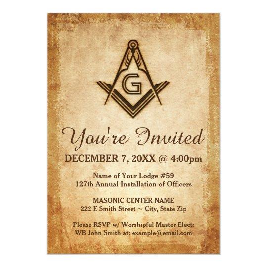 Masonic Invitation Template | Old Parchment Paper | Zazzle.com