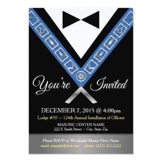 Masonic Invitations   Freemason Tux Custom Invite