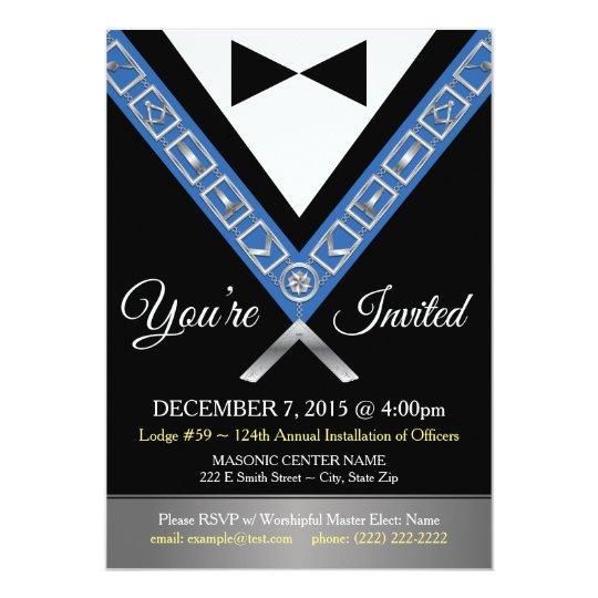 Masonic Invitations Freemason Tux Custom Invite Zazzle Com