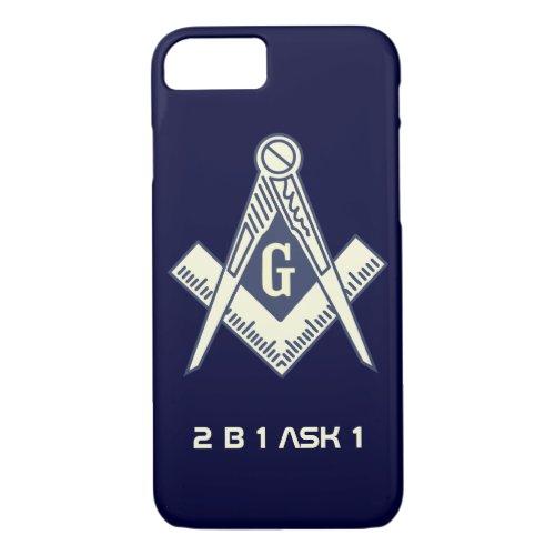 Masonic iPhone 7 case Phone Case