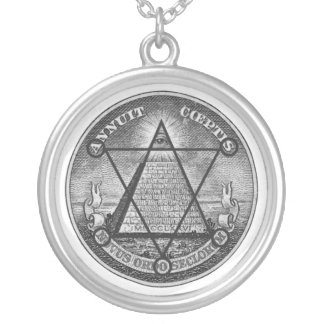 masonic jewel round pendant necklace