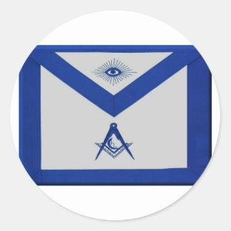 Masonic Junior Deacon Apron Classic Round Sticker