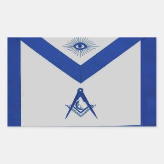 Masonic Junior Deacon Apron Rectangular Sticker