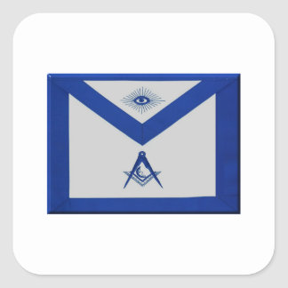 Masonic Junior Deacon Apron Square Sticker