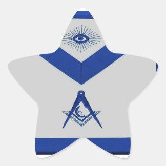 Masonic Junior Deacon Apron Star Sticker