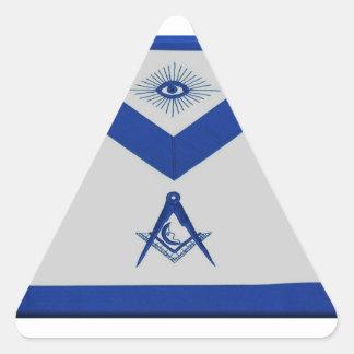Masonic Junior Deacon Apron Triangle Sticker