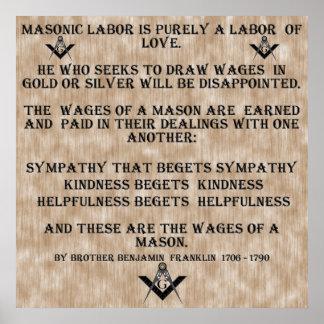 Masonic Labor Poster