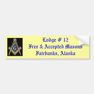 Masonic Lodge Bumper Sticker Car Bumper Sticker