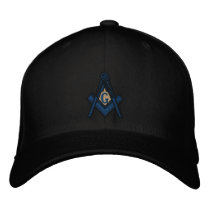 Masonic Lodge Fitted EMBRODERED hat