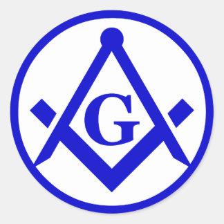 Masonic Lodge, NOT WATERPROOF Classic Round Sticker