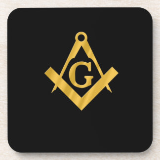 "Masonic ""Mason for Life"" Drink Coaster"