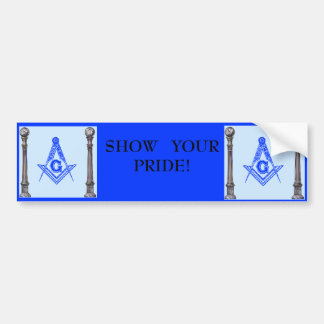 Masonic, Masonic, SHOW   YOUR                  ... Bumper Sticker