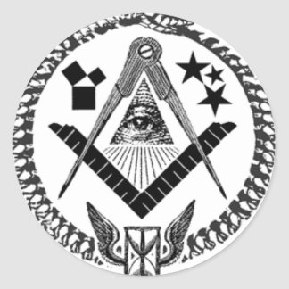 Masonic Memorabilia Round Stickers