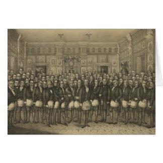 Masonic Memorial Freemason Freemasonry Card