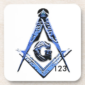 Masonic Minds (Blue) Beverage Coaster