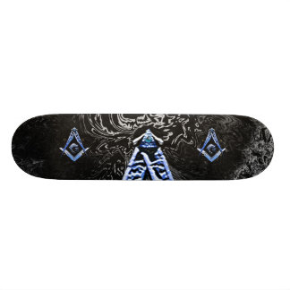 Masonic Minds (Blue) Skateboard