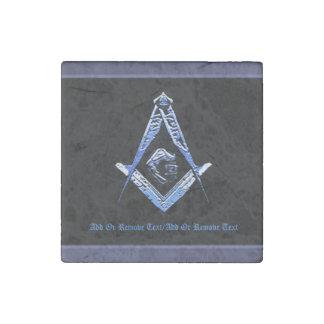 Masonic Minds (Blue) Stone Magnet