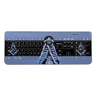 Masonic Minds (Blue) Wireless Keyboard