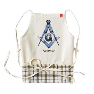 Masonic Minds (Blue) Zazzle HEART Apron