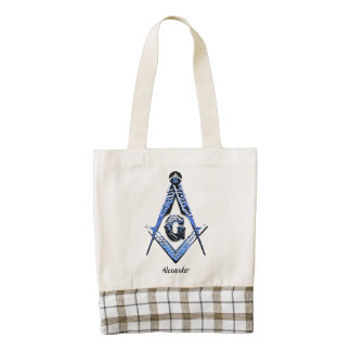 Masonic Minds (Blue) Zazzle HEART Tote Bag