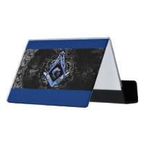 Masonic Minds (blueSwish) Desk Business Card Holder