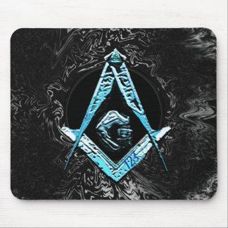 Masonic Minds (BrightBlueSwish) Mouse Pad