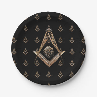 Masonic Minds (Golden) 7 Inch Paper Plate